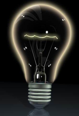 black lightbulb